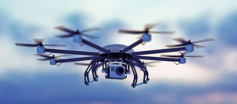 Unternehmens- und Geheimnisschutz Drohne