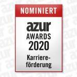 """5. März 2020: RITTERSHAUS in der Kategorie """"Karriereförderung"""" für die azur Awards 2020 nominiert"""